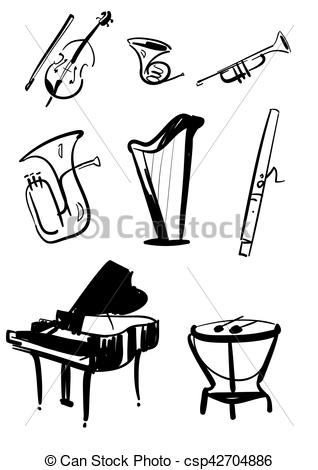Indian clipart orchestra Hand Instruments Vectors Hand Symphony