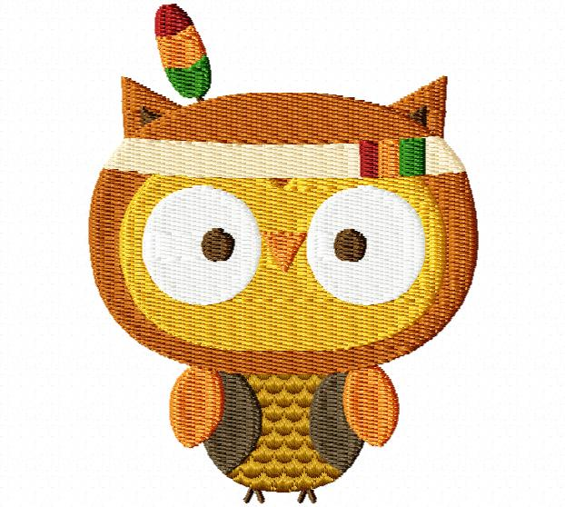 Indian clipart owl Owl Breezy Thanksgiving Embroidery Lane