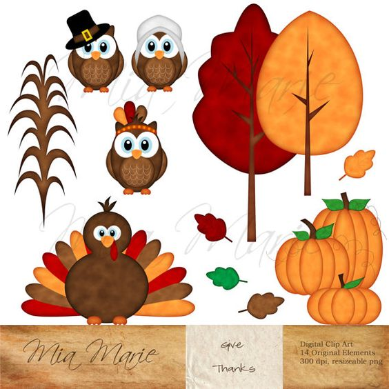 Indian clipart owl Thanksgiving indian turkey art and