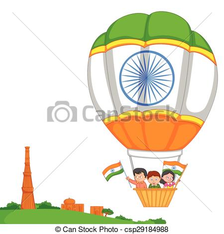 Indian clipart patriotism In Vector India Indian hoisting