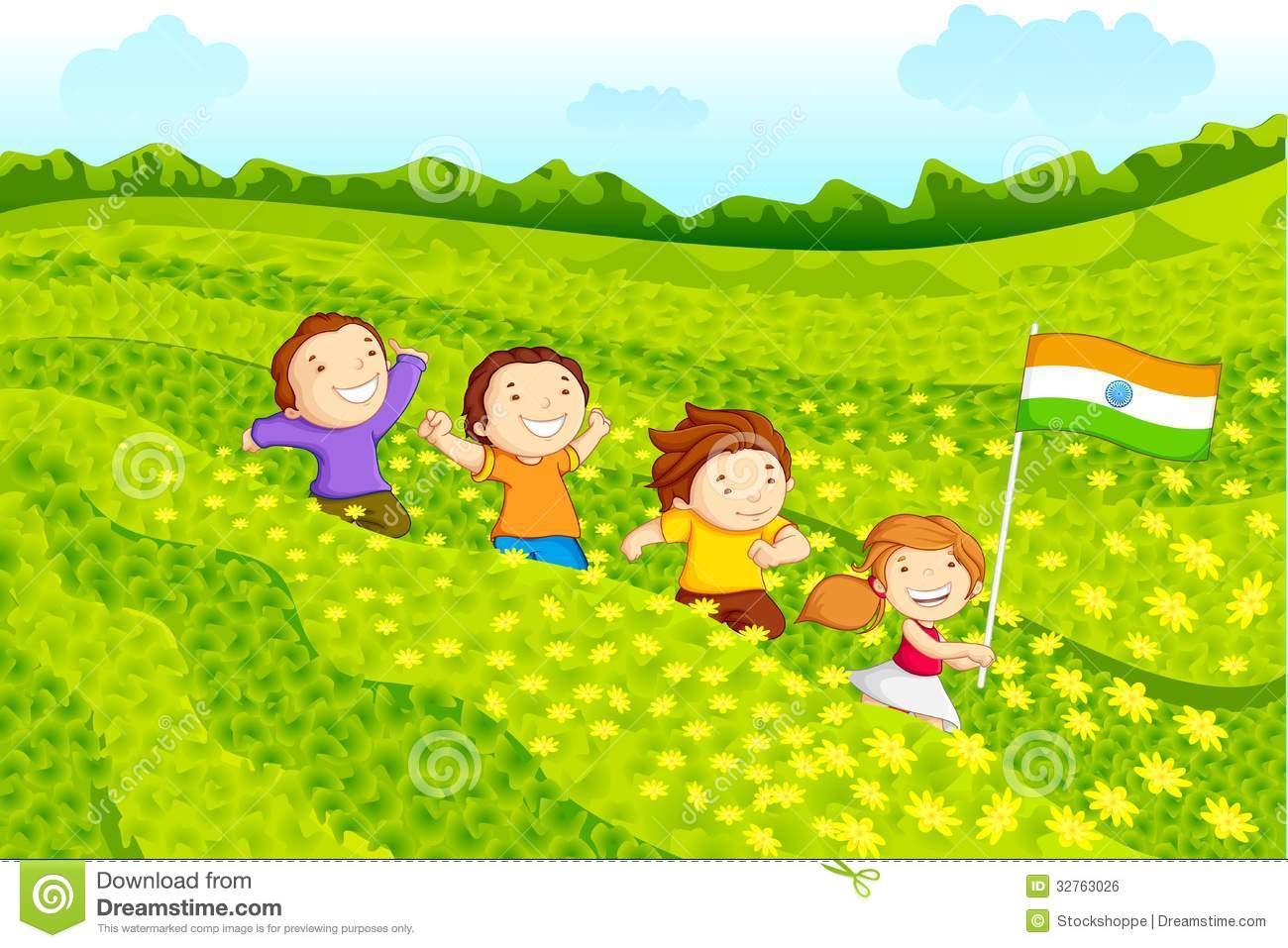 Indian clipart patriotism Flag Kids holding Child Royalty