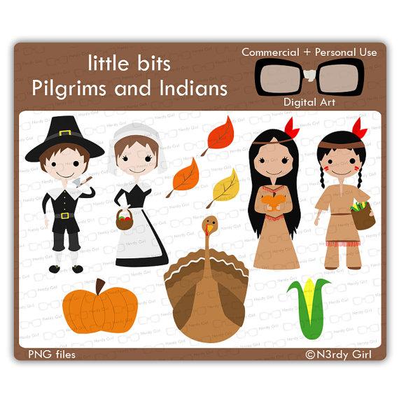 Indian clipart pilgrims Art Digital AND PILGRIMS INDIANS