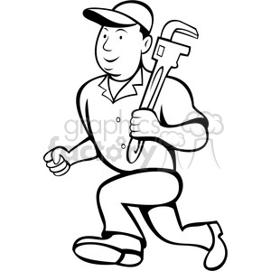 Indian clipart plumber With and black white plumber
