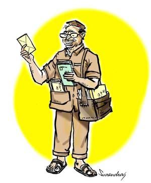 Indian clipart postman For postman Oh dear! Hindu
