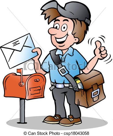 Indian clipart postman Illustration Clipart resource Of