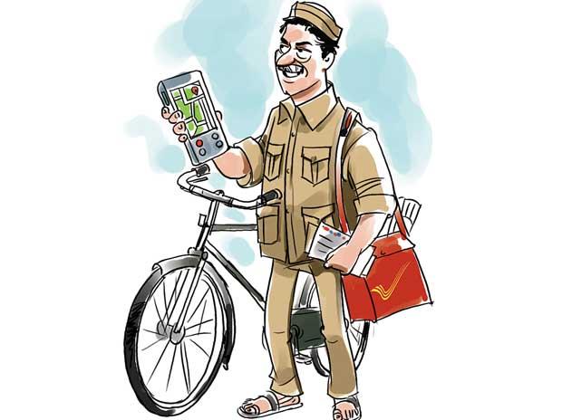 Indian clipart postman Good postman The durga old