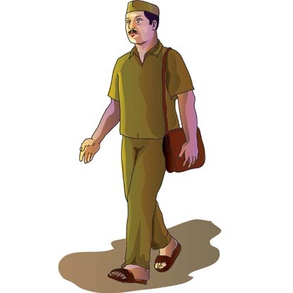 Indian clipart postman Indian Original com vector Cliparts