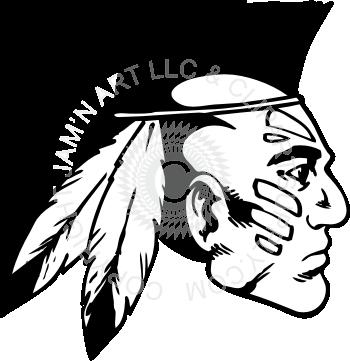 Indian clipart profile Mohawk with profile profile head