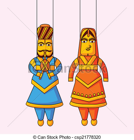 Indian clipart puppet And king Stock queen