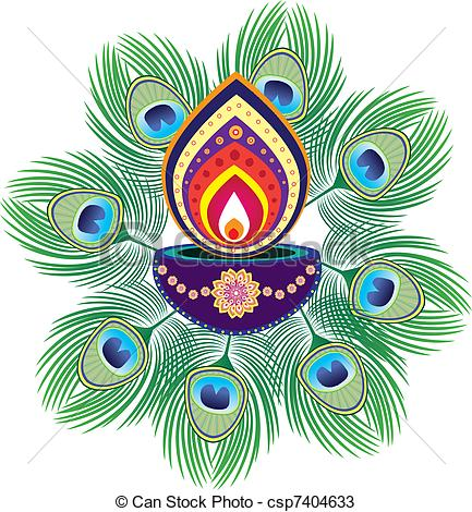 Indian clipart rangoli Colorful of csp7404633 Indian pattern