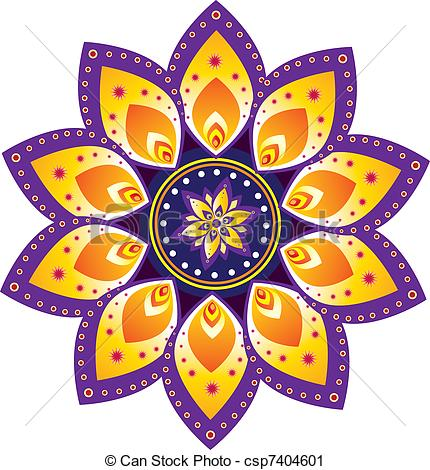 Indian clipart rangoli Clip Images Vector Colorful Drawings