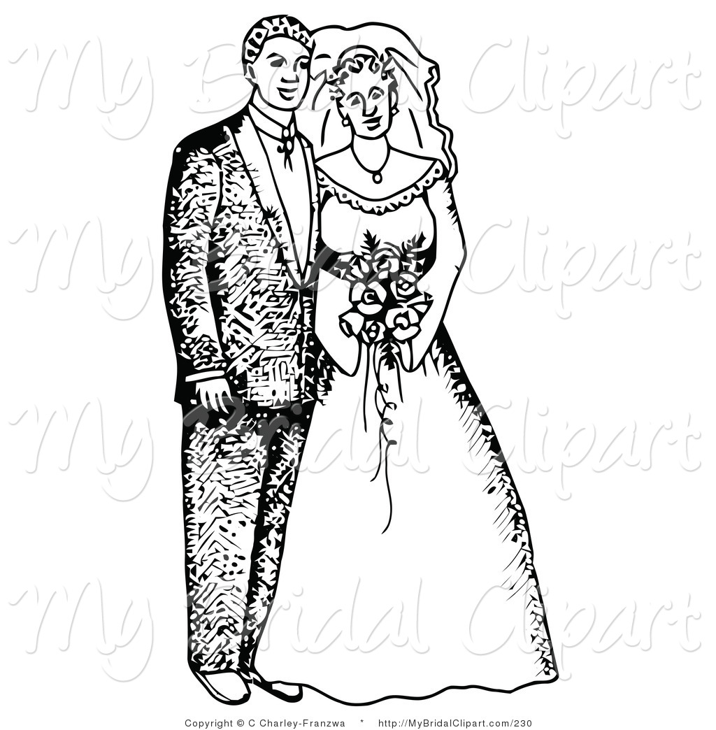 Zombie clipart bride and groom Ceremony ring Wedding collection clipart
