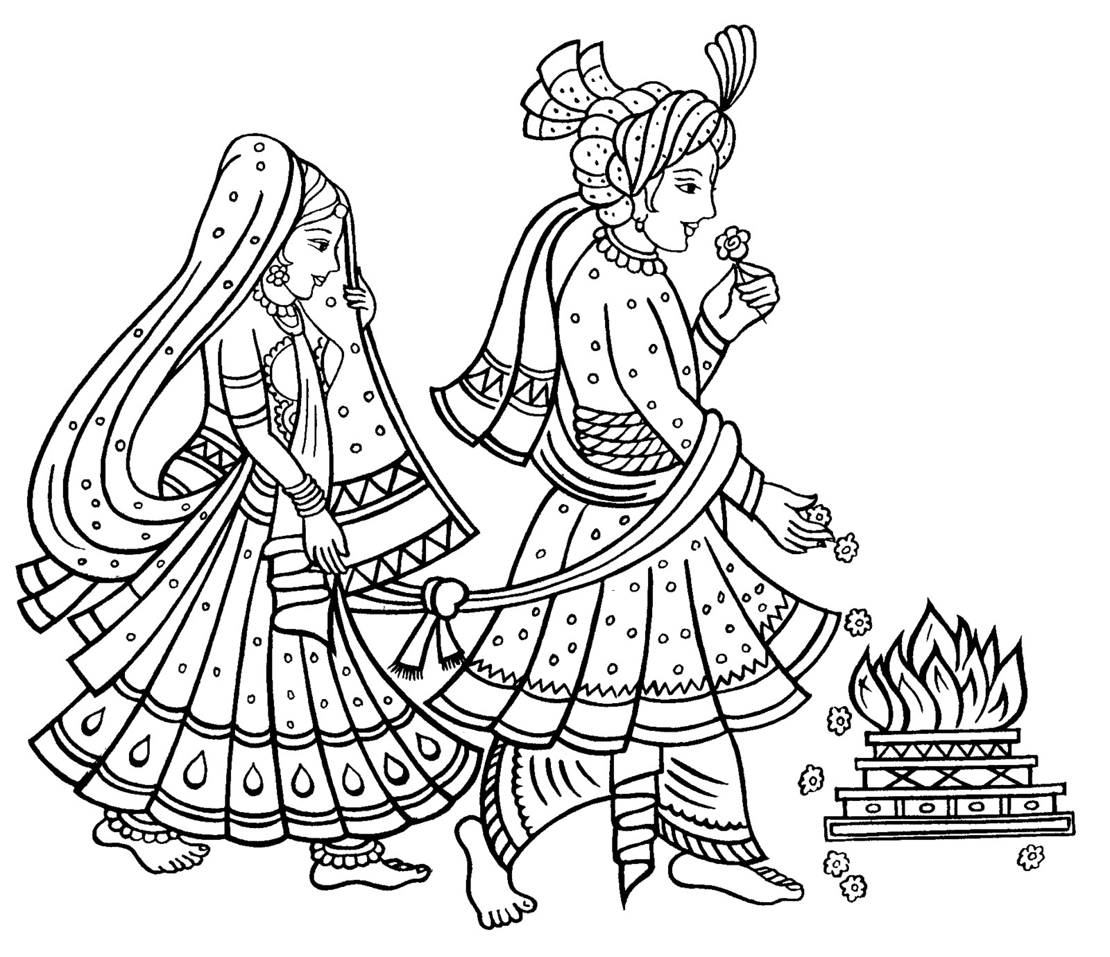 Coture clipart indian couple Phere Matrimony Of The Bonds