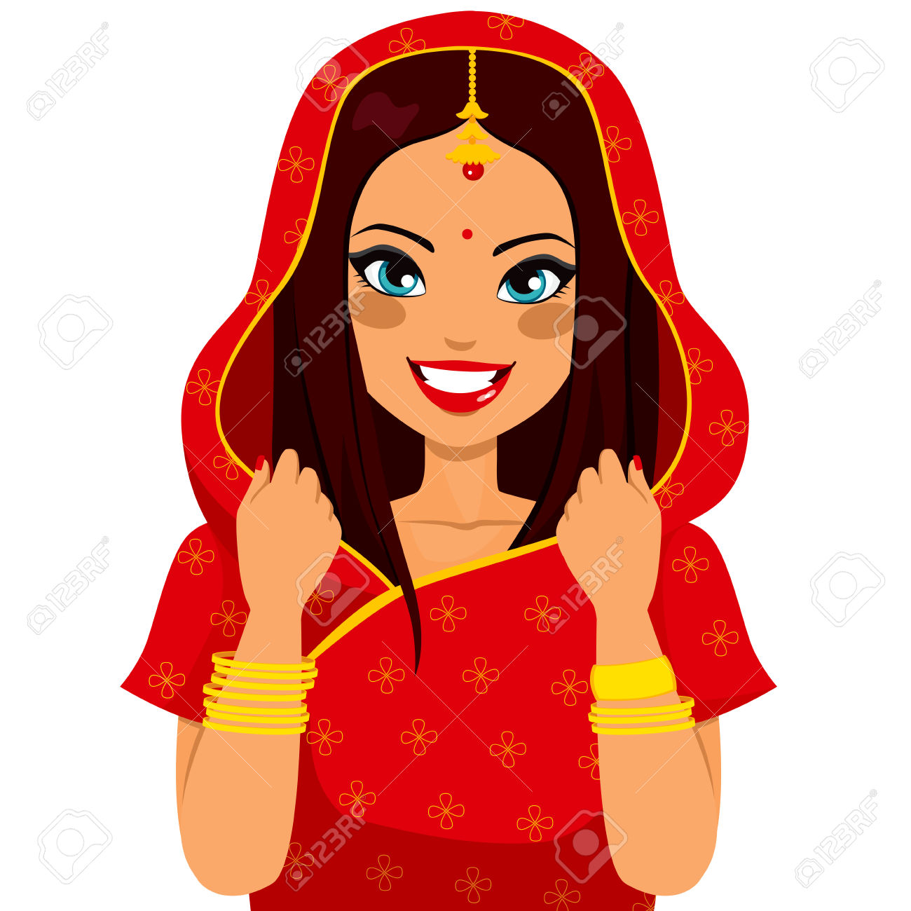 Indian clipart rural woman Woman Happy Traditional With BBCpersian7