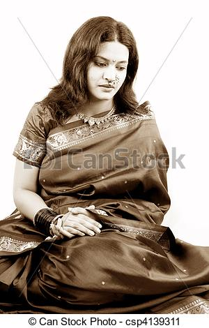 Indian clipart sad Stock a Woman Indian Indian