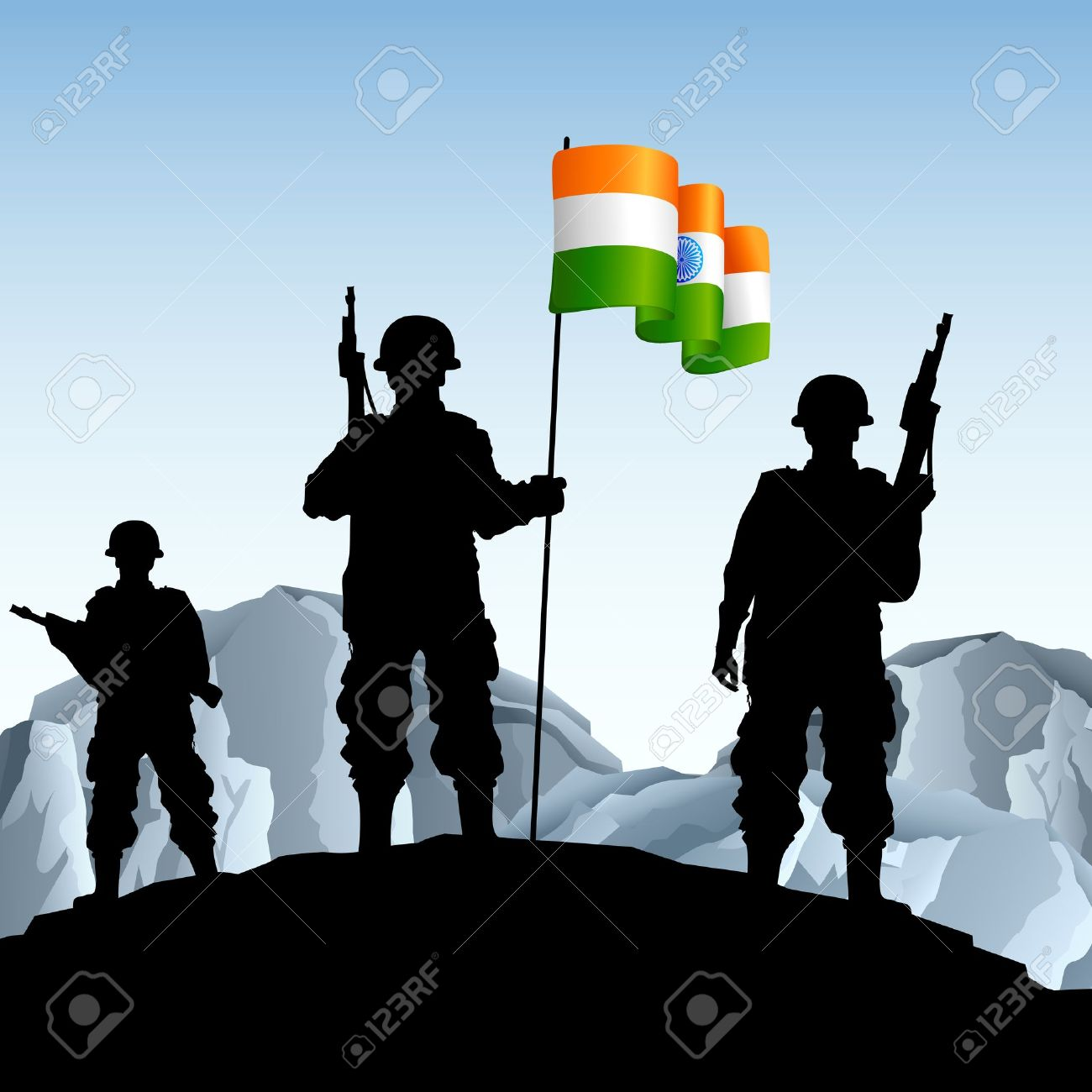 Indian clipart salute Illustration Indian  and the