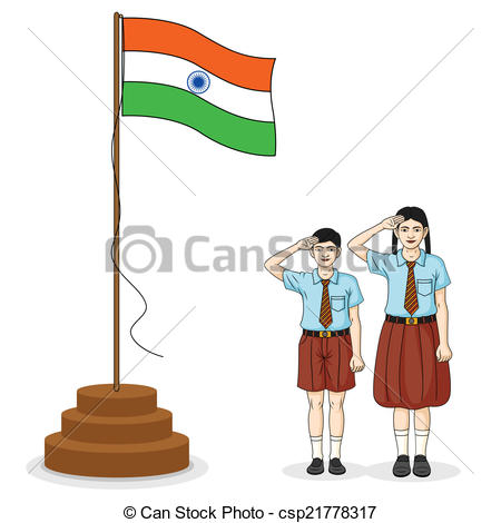 Indian clipart salute Saluting Indian in saluting India