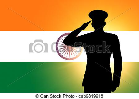 Indian clipart salute Indian  The Stock 382