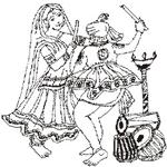 Indian clipart sangeet Jpg SG WS 22