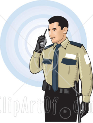 Indian clipart security guard & Watch & & under