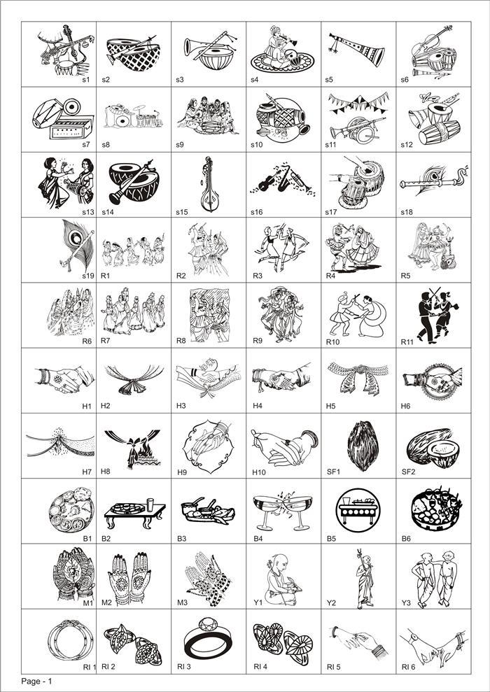 Indian clipart shadi Indian Symbols Clipart Hindu Indian