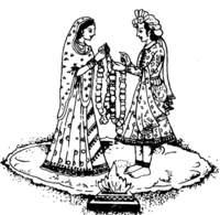 Black & White clipart indian wedding Indian Symbols Indian Wedding Hindu