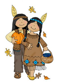 Indians clipart happy Colored CLIPART Dearie Stamps: