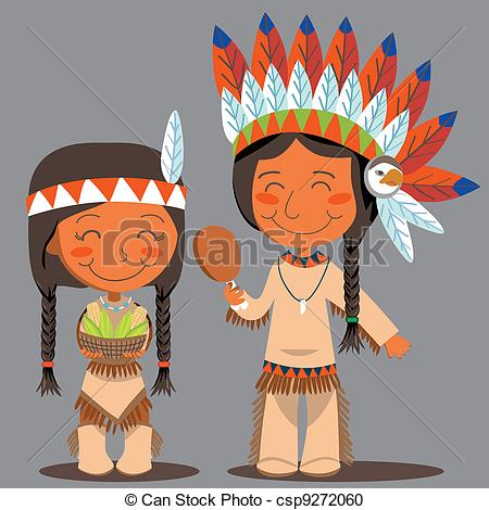 Indian clipart thanksgiving Native Thanksgiving corn American Indian