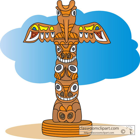 Indian clipart totem pole Pole pole totem Clipart clipart