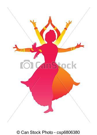 Classic clipart barn dance Indian EPS Art dance indian