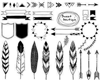 Indian clipart tribal Arrow images Tribal Watercolor Clipart