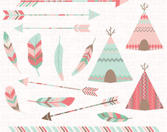 Tent clipart teal Etsy Tribal