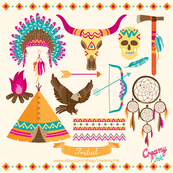 Indian clipart tribal Dreamcatcher Clip / feather Illustration