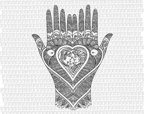 Indian clipart vintage Quality Hands Wedding Antique