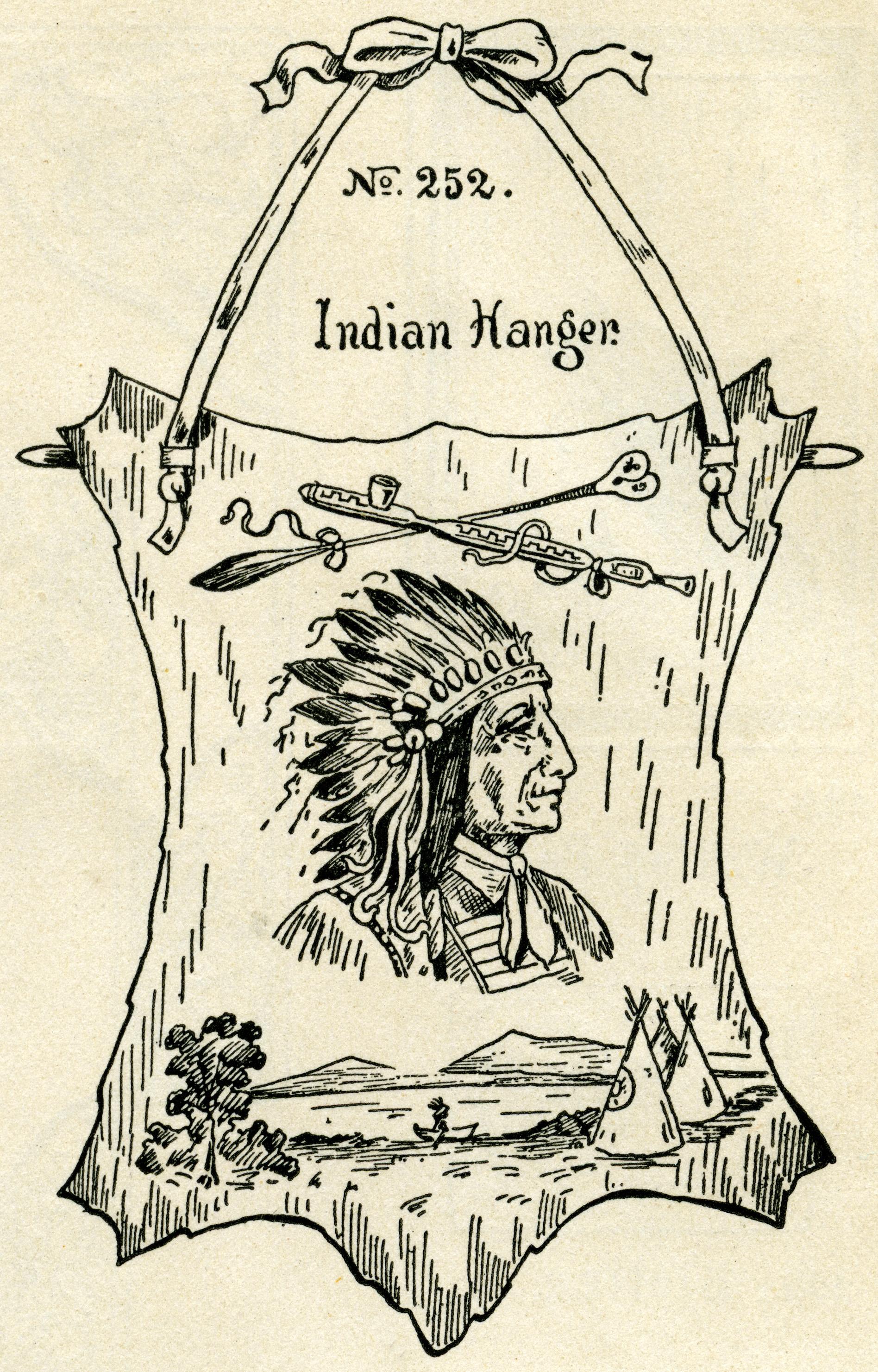 Indian clipart vintage Warrior vintage clip black art