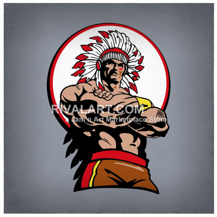 Wolverine clipart indian basketball Muscular Rivalart on Indian Indian