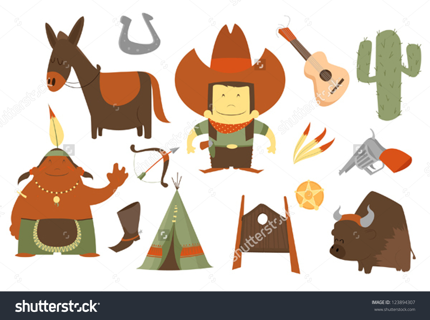 Indian clipart western Black Cowboy clipart Clipart and