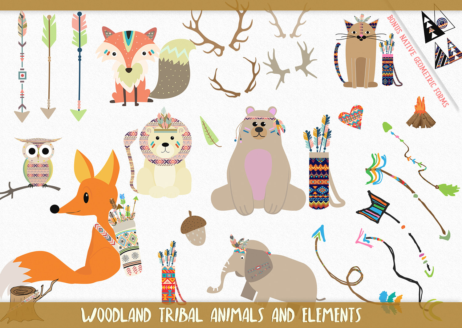 Indians clipart happy Vector is file Woodland Nursery
