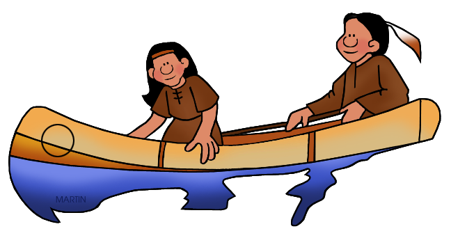 Indian clipart woodland Canoe Woodland Art Clip Southeast