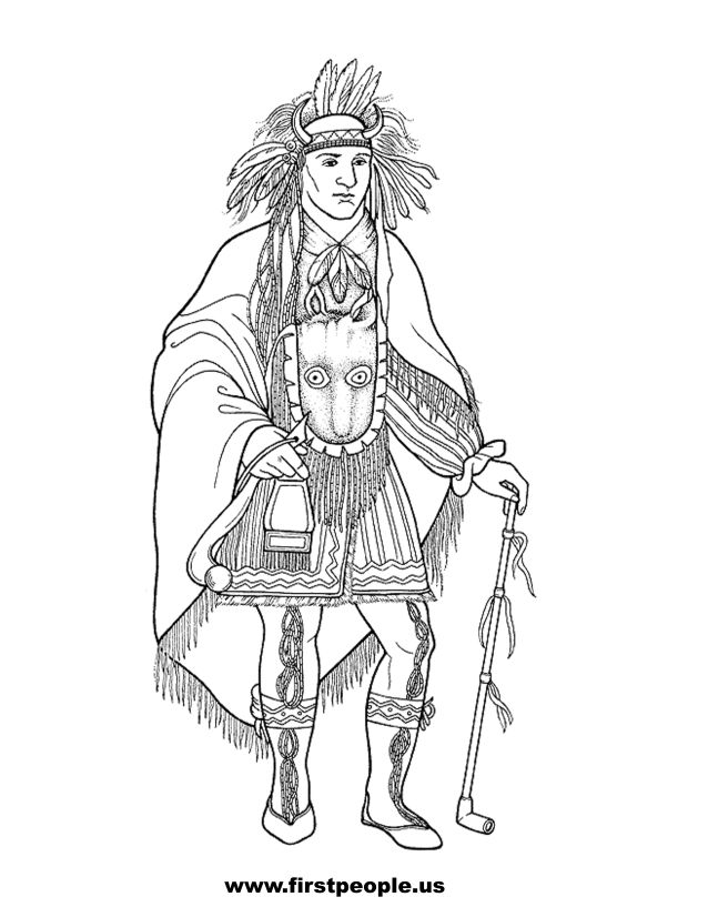 Native American clipart cherokee To Quid color in color
