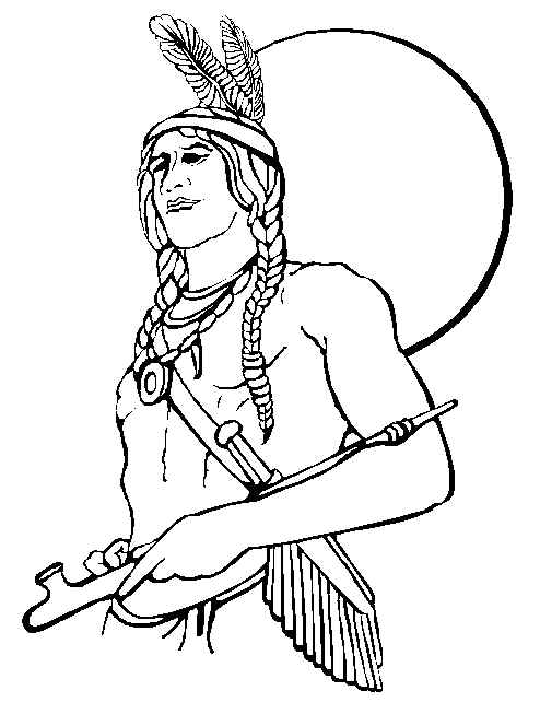 Native American clipart indigenous person Activity  Coloring American
