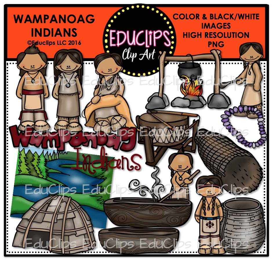 Indians clipart color Art Wishlist Wampanoag Indians and