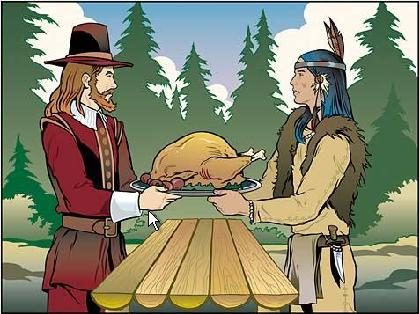 Indians clipart first thanksgiving dinner The  first Edu 290