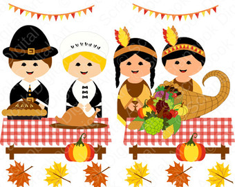 Indians clipart first thanksgiving dinner Set Thanksgiving The Clip Art