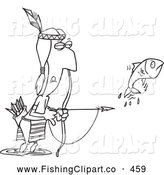 Native American clipart person fishing Clip Man Fishing American a