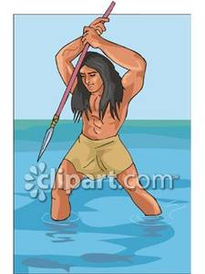 Indians clipart fishing Royalty Picture Fish Hunting Free