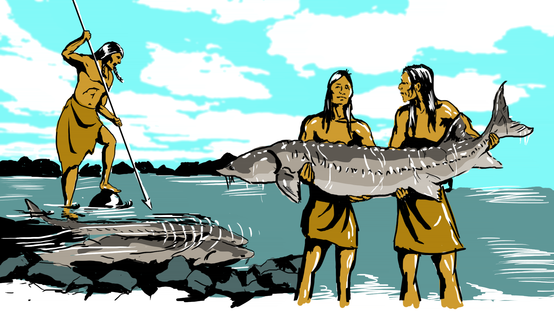 Fisherman clipart native american The Images Native Into with