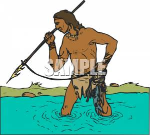 Fisherman clipart native american Royalty Clipart Indian Indian Man