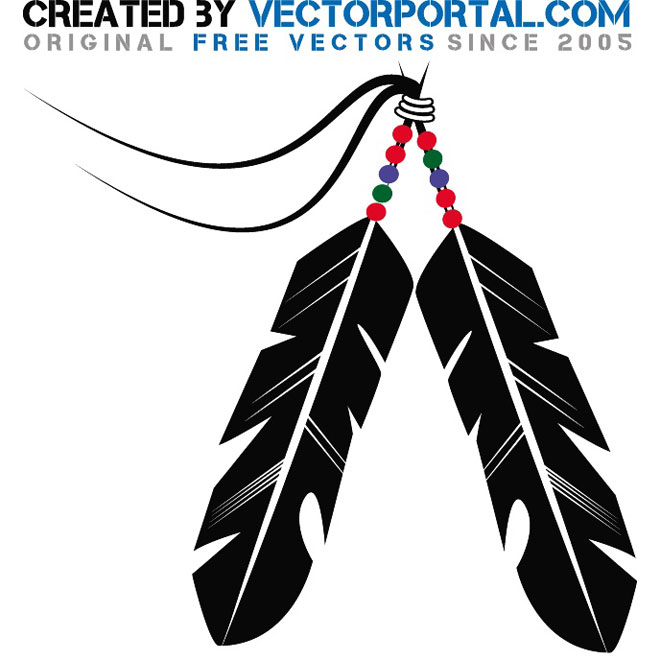 Native American clipart indian hat Feather clip Indians vector feathers