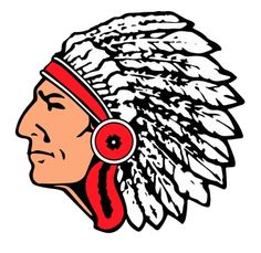 Indians clipart indian head On Indian Indian sports head